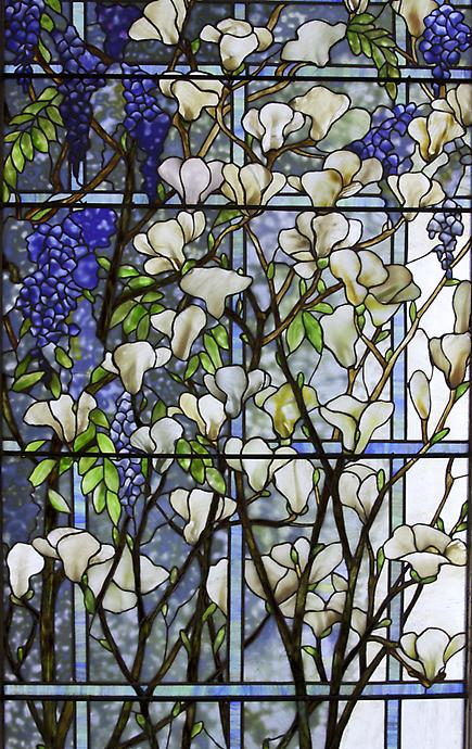Tiffany Studios <br> Magnolia and Wisteria Window 2