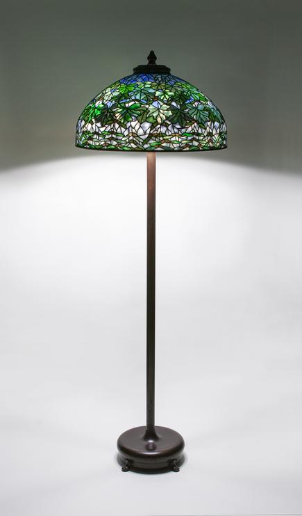 Tiffany Studios   Maple Leaf  Junior Floor Lamp 1