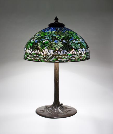 Tiffany Studios  Maple Leaf Table Lamp 1