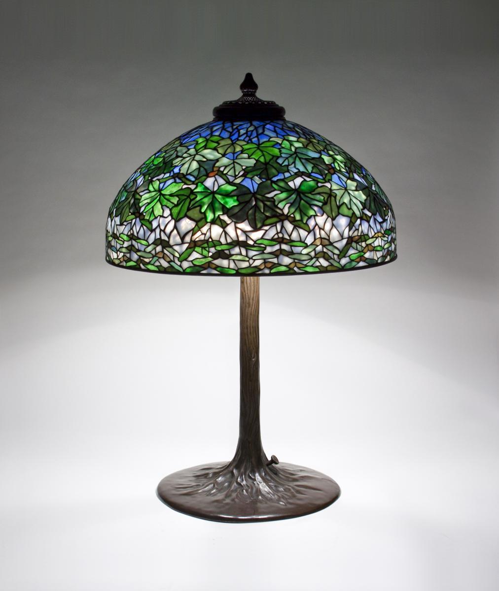 Tiffany Studios  Maple Leaf Table Lamp 2