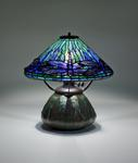 Tiffany Studios <br> Dragonfly Shade on Rare Mosaic Base