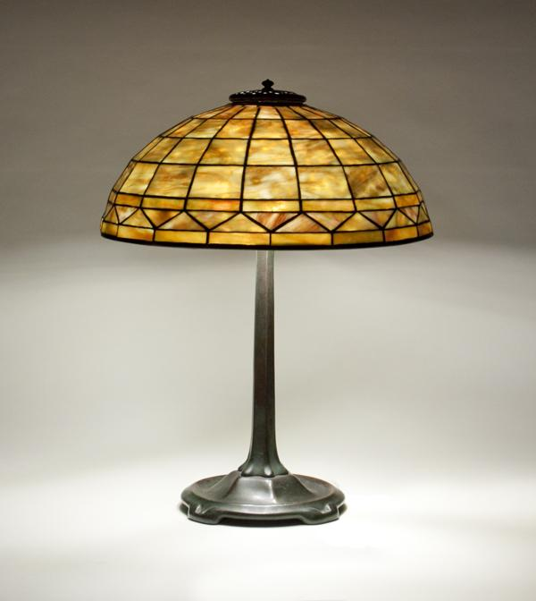 Tiffany Studios  Geometric Table Lamp 1