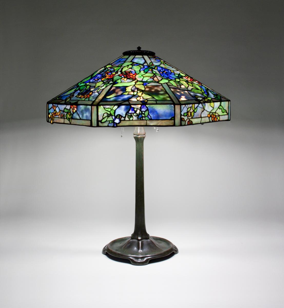 Tiffany Studios  October Nightshade Table Lamp 1