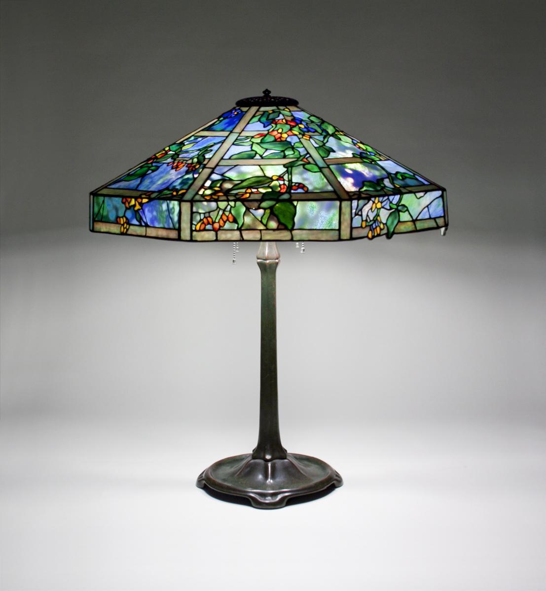 Tiffany Studios  October Nightshade Table Lamp 2