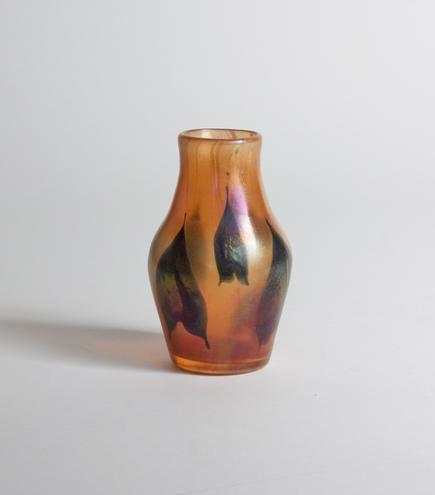 Tiffany Favrile Glass <br> 'Arrowhead' Paperweight Vase 3