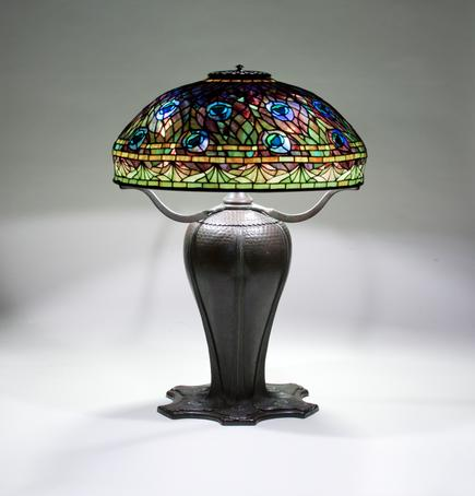 Tiffany Studios <br> Rare Peacock Table Lamp 1