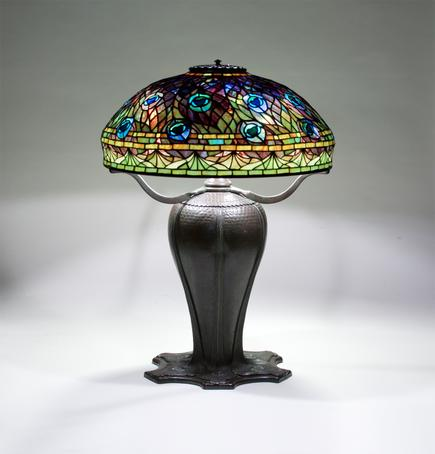 Tiffany Studios <br> Rare Peacock Table Lamp 2