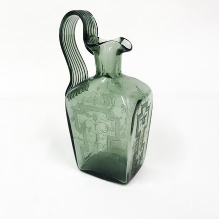 Orrefors Engraved Glass Pitcher 1