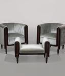 Paul Poiret for Atelier Martine <br> Lounge Chairs and Ottoman