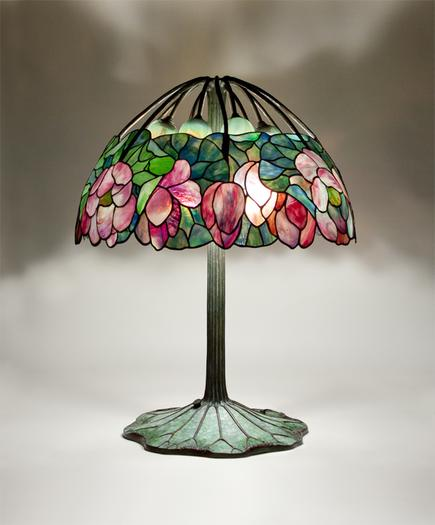 Tiffany Studios  Rare Lotus  Lamp 1