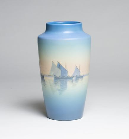 Carl Schmidt for Rookwood Pottery  Vellum Harbor Vase 1