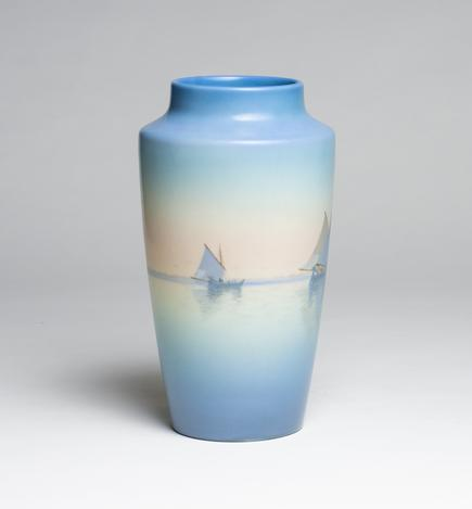 Carl Schmidt for Rookwood Pottery  Vellum Harbor Vase 2