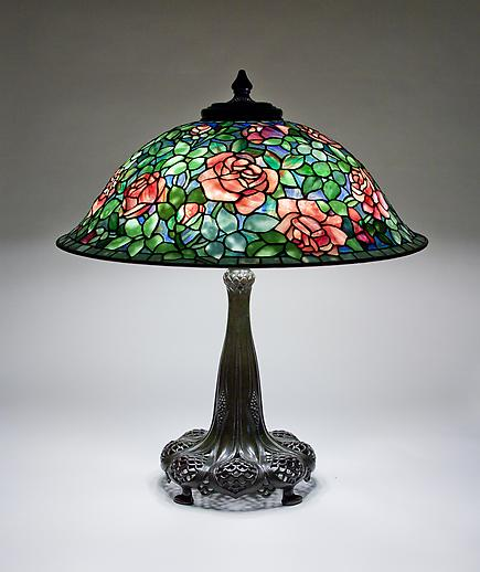 Tiffany Studios  Rose Lamp 1