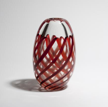 Archimede Seguso  Nastro Richiamato  Vase 1