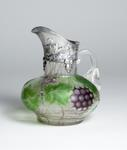 Tiffany Favrile Glass <br> Rare Silver Mounted Pitcher