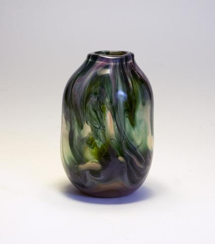 Tiffany Favrile Glass Swirling Paperweight Vase 1