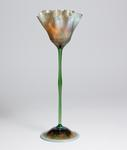 Tiffany Favrile Glass <br> Ruffled Flower Form Vase