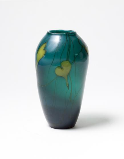Tiffany Favrile Glass <br> Decorated Vase 1