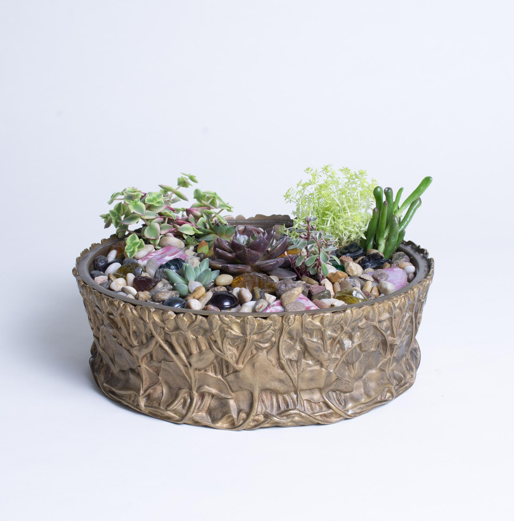 Tiffany Studios  Marsh Marigold Planter 1