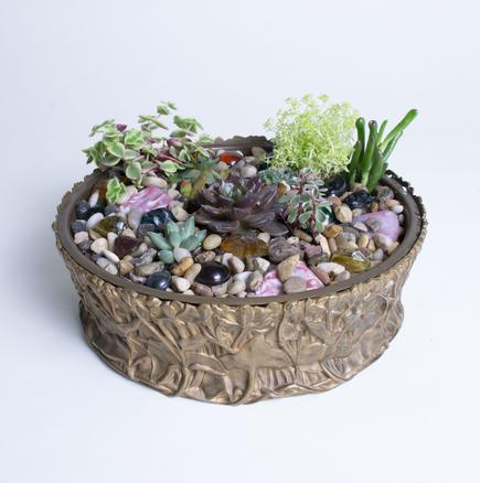 Tiffany Studios  Marsh Marigold Planter 2