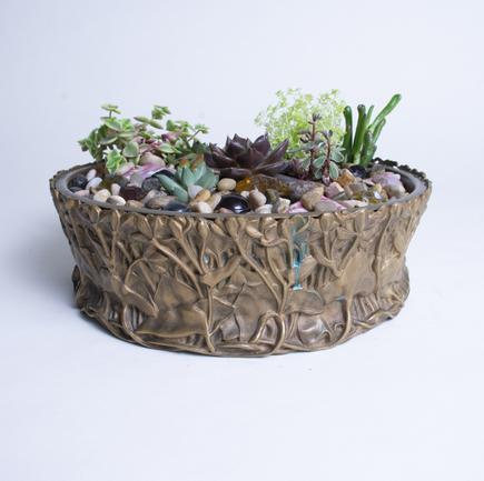 Tiffany Studios  Marsh Marigold Planter 3