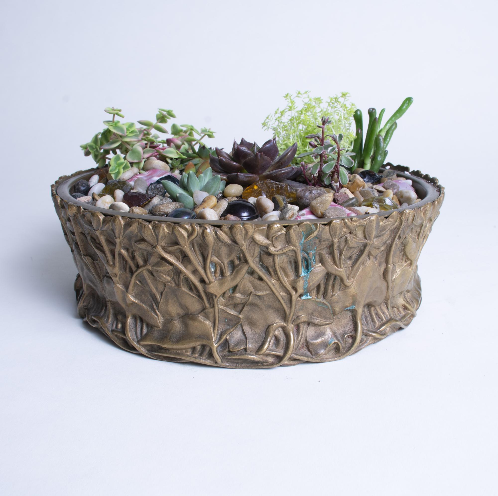Tiffany Studios  Marsh Marigold Planter 4