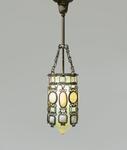 Tiffany Glass & Decorating Company Rare Silvered Hanging Lantern