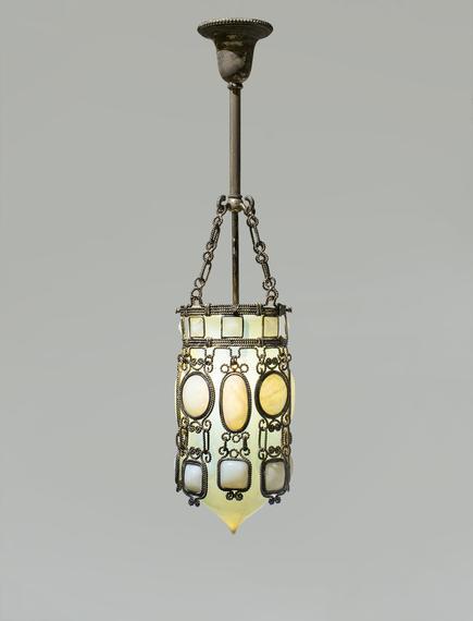 Tiffany Glass & Decorating Company Rare Silvered Hanging Lantern 1