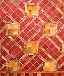 Tiffany Glass & Decorating Co.  Geometric Mosaic Fireplace Surround