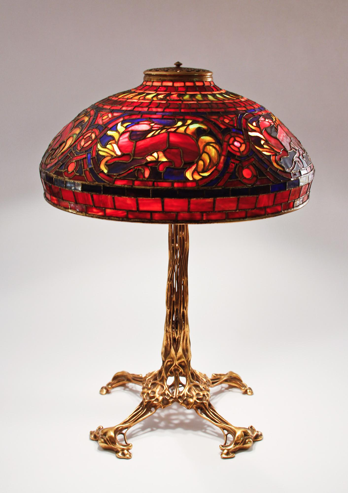Tiffany StudiosSalamander Table Lamp 1