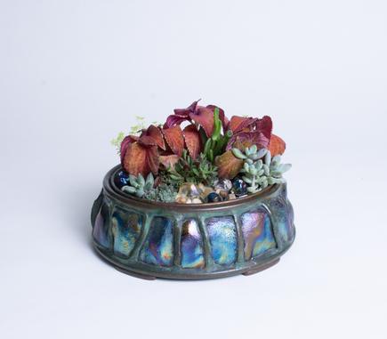 Tiffany Studios  Turtleback Planter 4