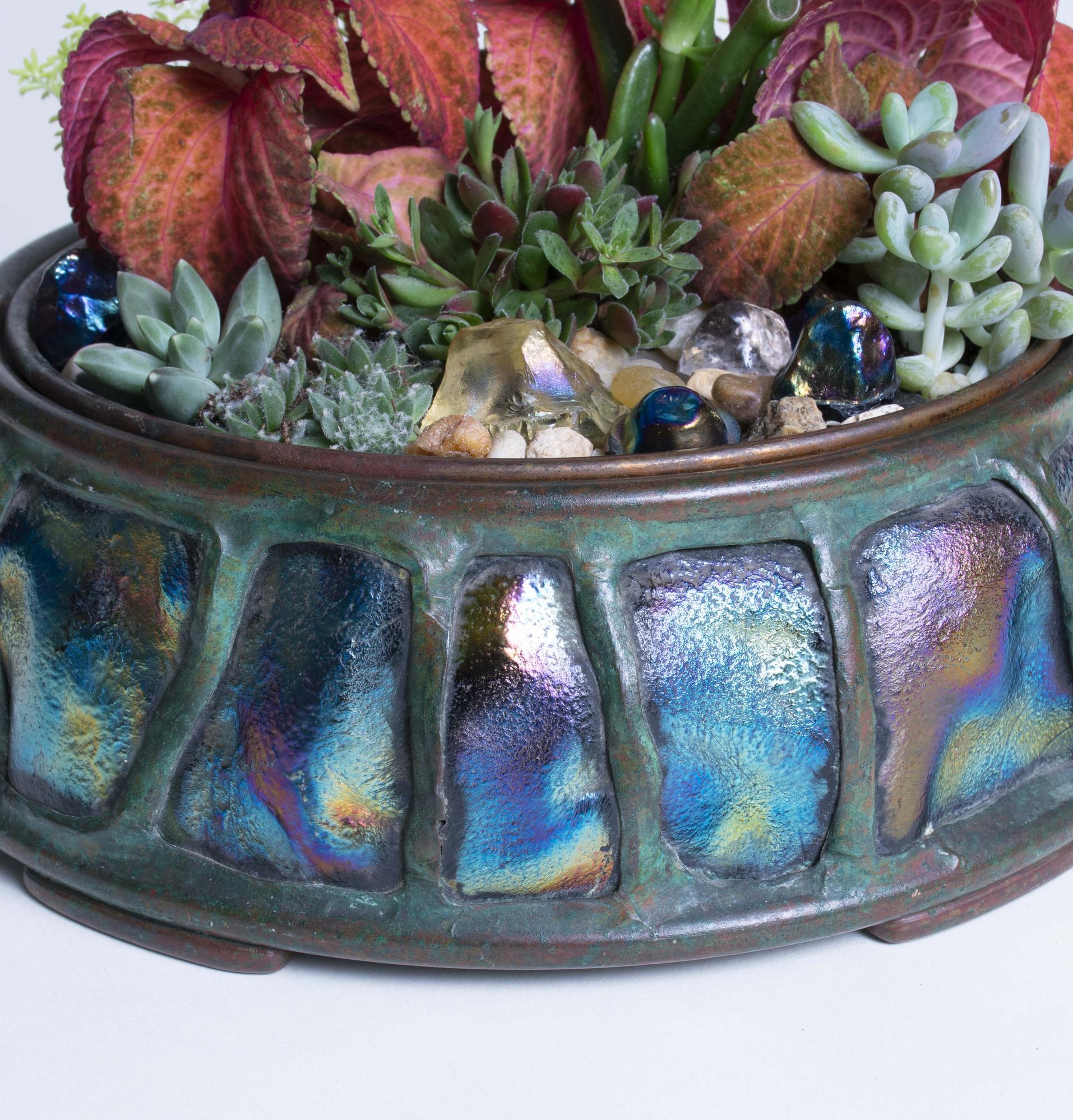 Tiffany Studios  Turtleback Planter 2