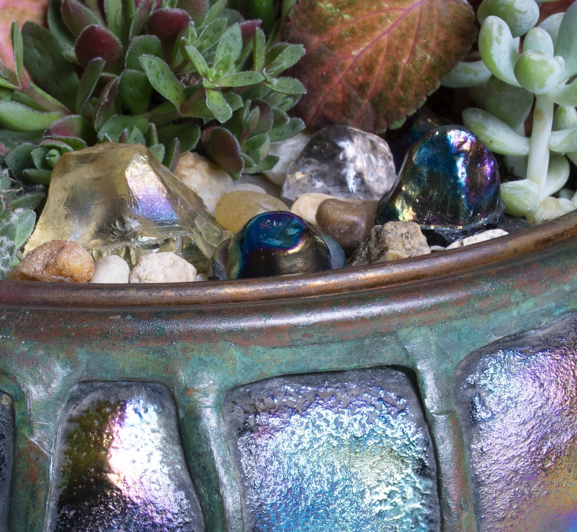 Tiffany Studios  Turtleback Planter 3