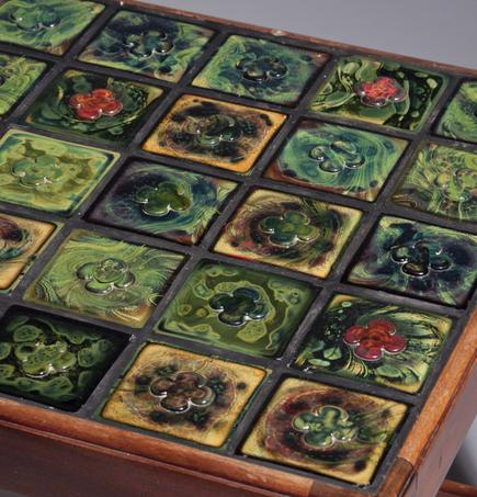 Coffee Table with Tiffany Favrile Glass Tile inlay 2