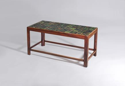 Coffee Table with Tiffany Favrile Glass Tile inlay 1