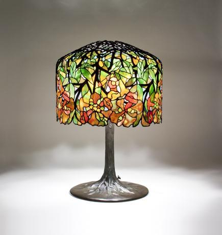 Tiffany Studios <br> Trumpet Creeper Table Lamp 1