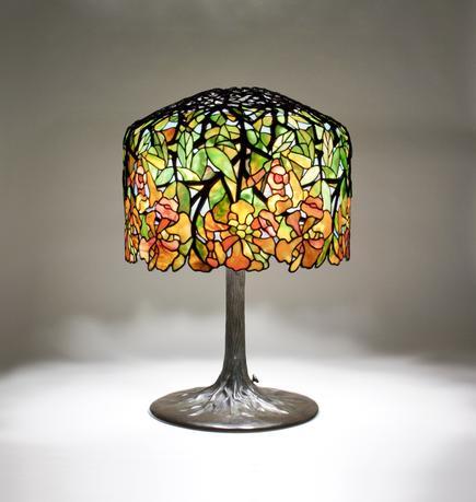 Tiffany Studios <br> Trumpet Creeper Table Lamp 2
