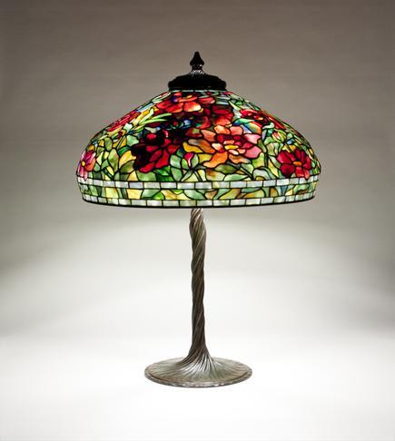 Tiffany Studios  Peony  Table Lamp 1