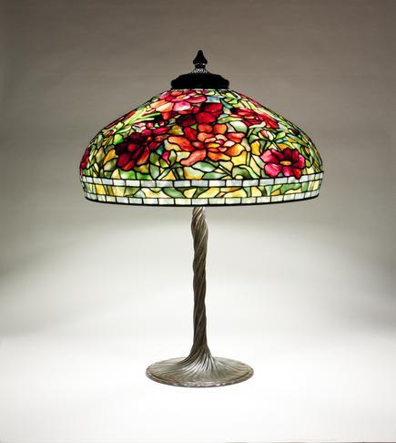 Tiffany Studios  Peony  Table Lamp 2
