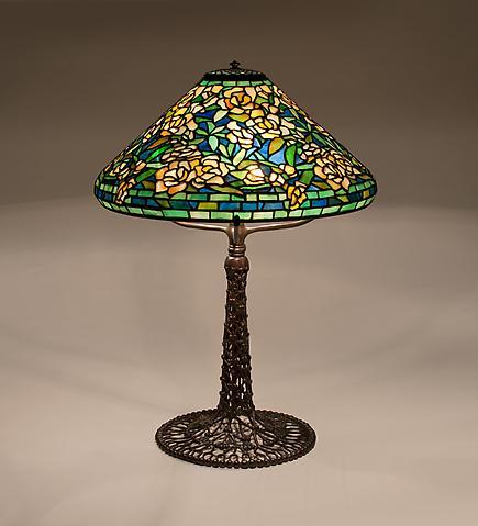 Tiffany Studios  Wild Rose Table Lamp 3