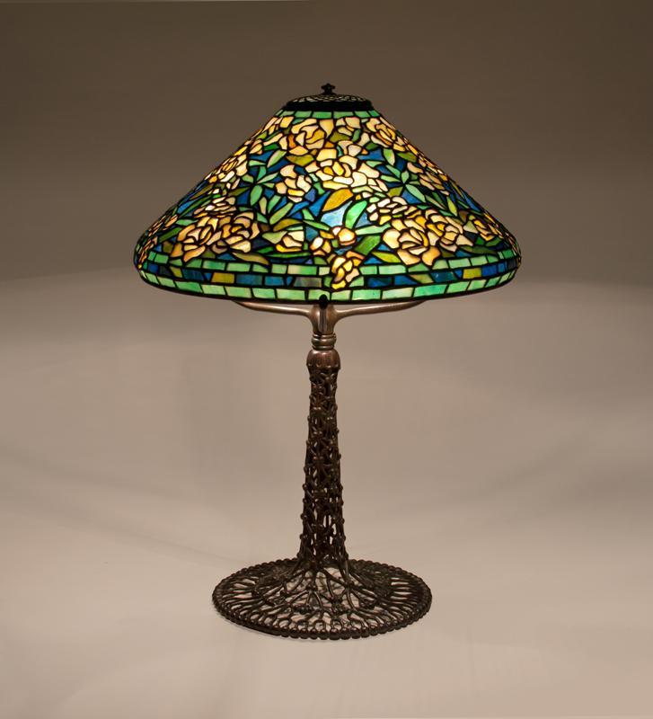 Tiffany Studios  Wild Rose Table Lamp 2