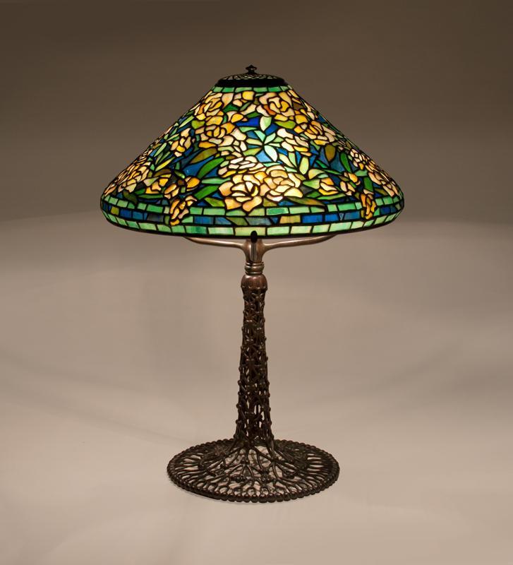 Tiffany Studios  Wild Rose Table Lamp 1