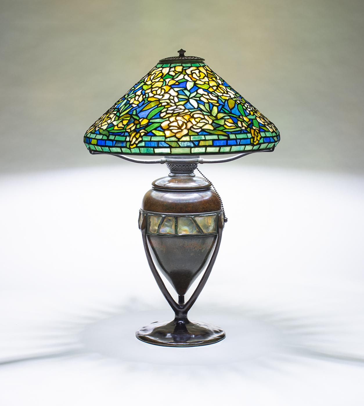 Tiffany Studios  Rare Wild Rose Table Lamp 1