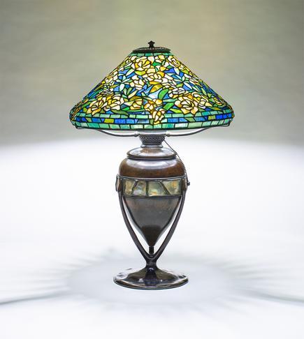 Tiffany Studios  Rare Wild Rose Table Lamp 2