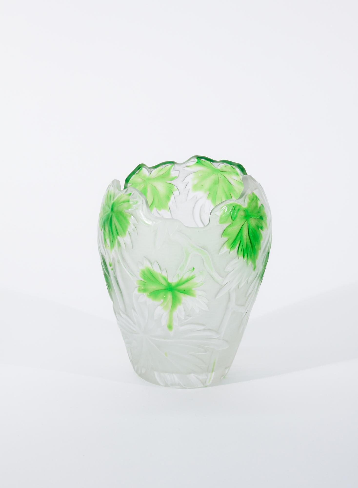 Tiffany Favrile Glass  Cameo Vase 2