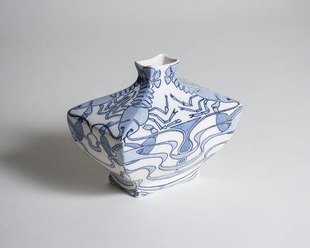 Alf Wallander for Rörstrand  Vase with Lobster Motif 1