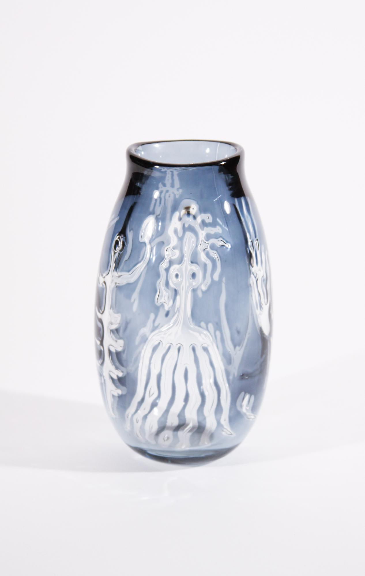 Orrefors Rare 'Ariel' Glass Vase 3