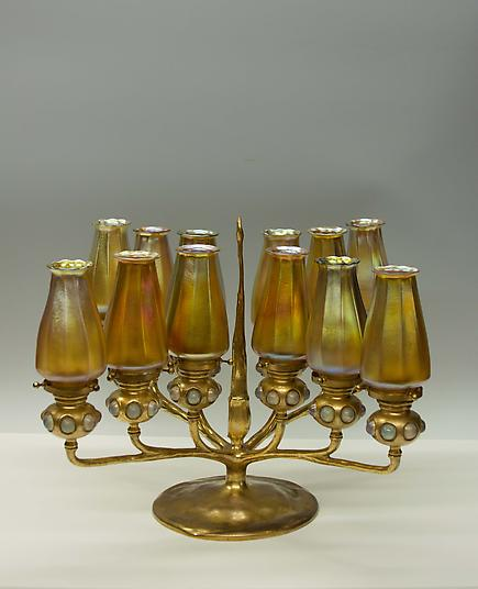 Tiffany Studios <br>12-Light Candelabrum 1