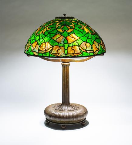 Tiffany Studios   Bell Flower  Table Lamp 1