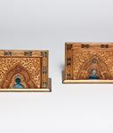 Tiffany Studios <br> Enameled Bookends